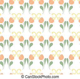 Tulips seamless pattern