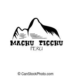 Machu Picchu mountain of Peru vector design template