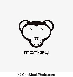 monkey vector design template