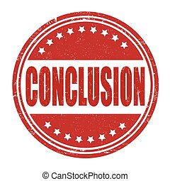 Conclusion stamp - Conclusion grunge rubber stamp on white...