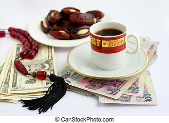 Arabian business - Coffee, dates stuffed with almonds and...