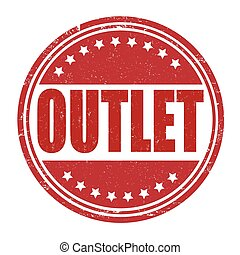Outlet stamp - Outlet grunge rubber stamp on white...