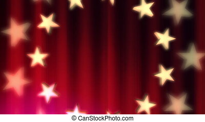 Patriotic in Red Loop - Looping Animated Background