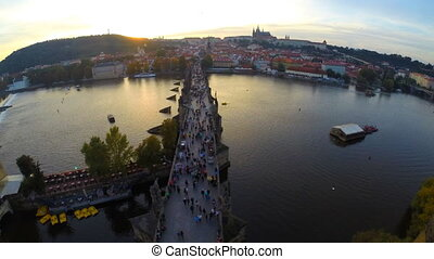 Charles Bridge in Prague - Time lapse of Charles Bridge