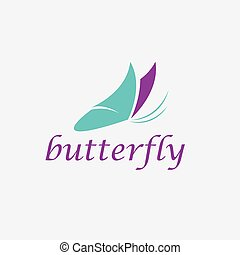 abstract cute butterfly vector design template