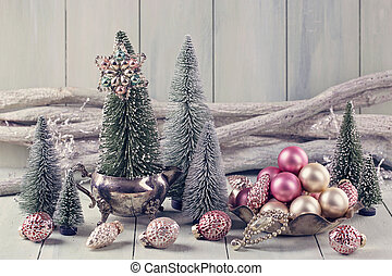 Pastel christmas - Pastel colored decoration for christmas