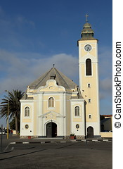 The old church of Swakopmund in Namibia