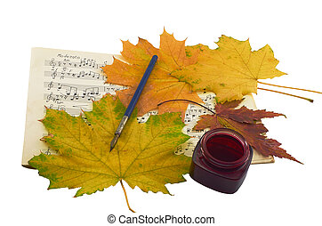 Autumn music - The autumn leaves, the peryevy handle,...