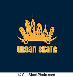 urban skate vector design template