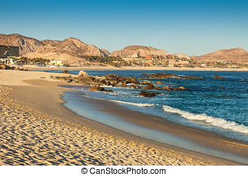 Cabo San Lucas, Mexico - The coastline of the Sea of Cortez,...