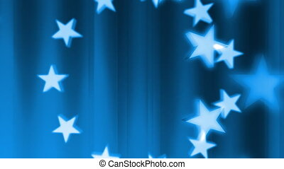 Abstract Patriotic in Blue Loop
