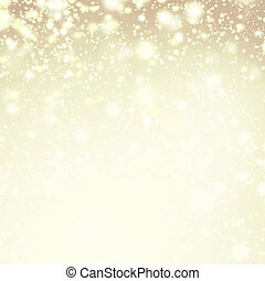 Gold sparkles - Christmas Defocused Lights Background with...