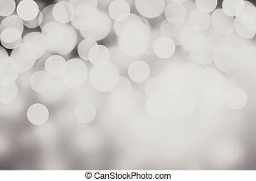 Beautiful Christmas background with silver lights and stars...