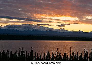 Willow Lake Southeast Alaska Wrangell St Elias National Park...