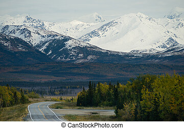 Bend in the Road Alaska Mountain Highway Transportation