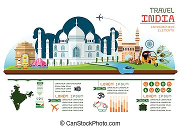 travel and landmark India - Info graphics travel and...