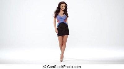 Seductive curvaceous young woman - Seductive curvaceous...