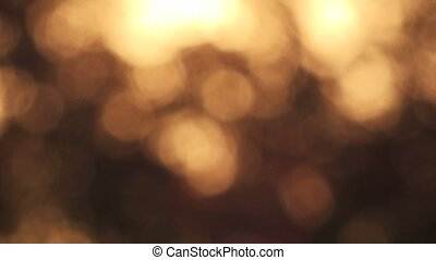 Abstract autumn bokeh background, glittering sunlight...