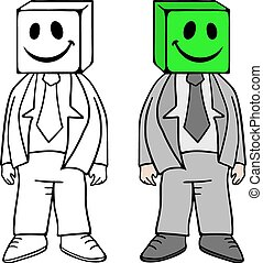 funny cube mask - Creative design of funny cube mask