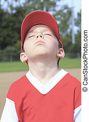 children baseball player don't want to play