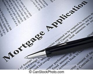 Mortgage application - Close up of a mortgage application...