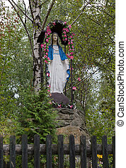 Old Wayside shrine in Mucharz near Cracow Poland