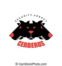 Security Agency, Cerberus Logo for security company Three...