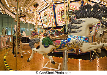 it is a close shot of Merry-go-round