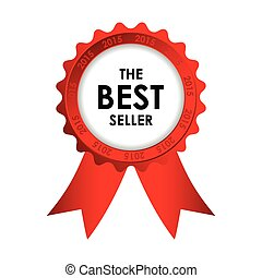 red best seller badge