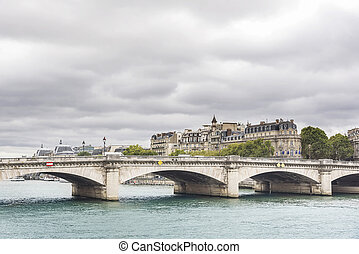 Concorde bridge Paris - France - Concorde bridge in Paris,...