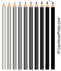 Pencils Charcoal Crayons Grayscale - Pencils - charcoal...