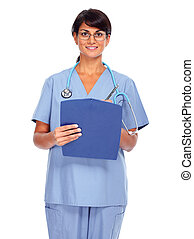 Asian medical doctor woman - Young medical doctor woman...