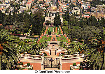 Bahai Gardens in Haifa, Israel - Beautiful panoramic...