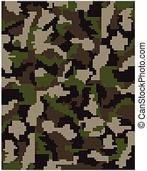 digital camouflage - Seamless pattern of digital camouflage,...