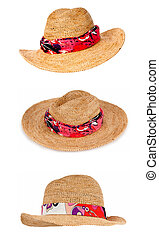 Set of hats isolated on white