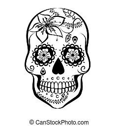 Sugar Skull - Vector Sugar skull isolated on white...