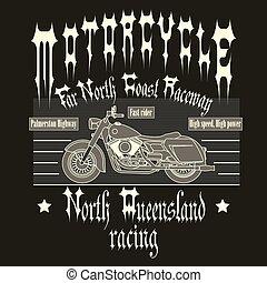 Motorcycle Racing Typography t-shirt - Motorcycle Racing...