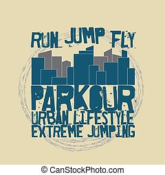 Parkour concept t-shirt - Parkour concept Fashion...