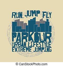 Parkour concept t-shirt - Parkour concept Fashion...