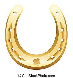 Golden Horseshoe - Golden horseshoe with cloverleaf icon...