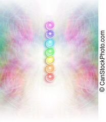 Seven Chakras background - Symmetrical intricate pastel...