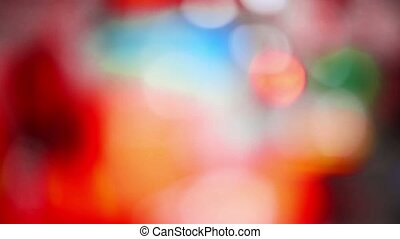 blurred beautiful glare light background flickering red...