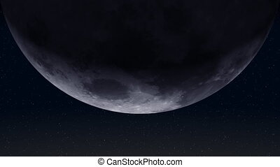 Planet Earth and Moon 01 (25fps) - From outer space against...