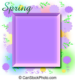 spring scrapbook frame - spring fantasy flowers scrapbook or...