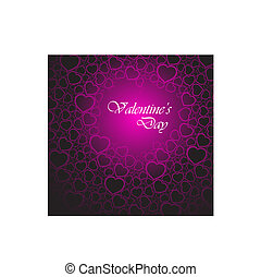 Love vector background made from pink hearts valentines day...