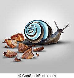 Improvement Concept - Improvement concept as a snail...