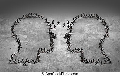 Teamwork Leadership Business Concept - Teamwork leadership...