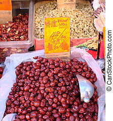 Dried dates in Chinatown