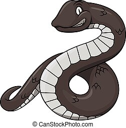 Black snake cartoon illustration design