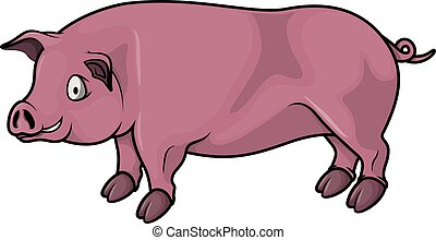 Pig cartoon illustration